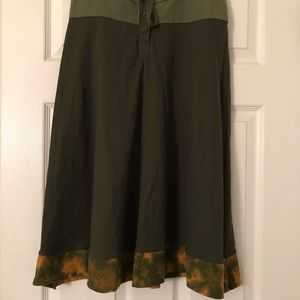 High wasted Avatar green skirt